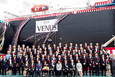 MOL holds naming ceremony for LNG Venus