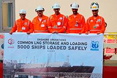 Qatargas loads 5000th LNG cargo