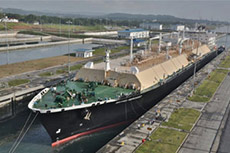 Second LNG carrier transits expanded Panama Canal