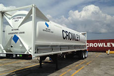 Crowley christens new LNG-ready vessel