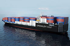 Crowley seeks financing for LNG fuelled ConRo ships