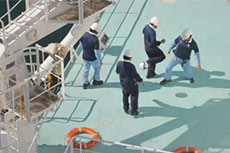 Football on board an LNG carrier
