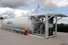 Chart supplies skid mounted LNG refuelling station