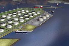 LNG break bulk facility under construction