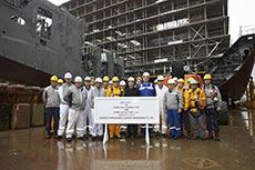 Teekay celebrates MEGI vessel keel laying