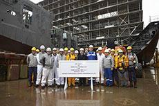 Teekay celebrates MEGI vessel keel laying