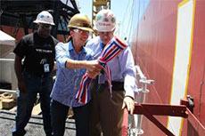 General Dynamics NASSCO christens Magnolia State