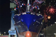 General Dynamics NASSCO launches LNG-powered ship