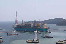 Petronas' FLNG facility sets sail