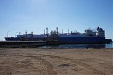 Gazprom inspects LNG tanker
