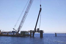 BAM drives first pile at LNG jetty