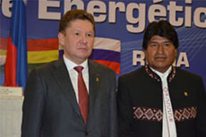 Gazprom signs MOU with Bolivia promoting use of LNG