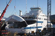 The world's largest gas-powered ferry