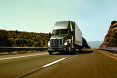 Freightliner Trucks: LNG fuel tanks