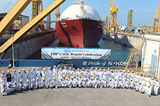 N-KOM celebrates 100th LNG carrier repair