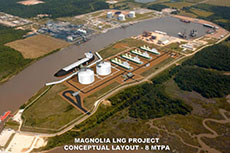 Magnolia LNG files FERC application