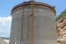 LNG tank construction progressing in Southeast Asia