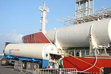 LNG fuel gas trials at Zeebrugge
