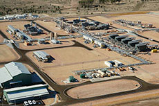 GLNG gas compression facilities fully operational