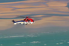 Shell launches helicopter for Prelude