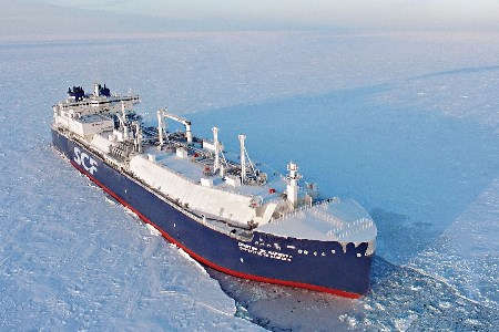 Sovcomflot's unique LNG carrier sets new record
