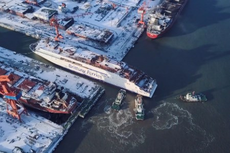 First LNG-powered ferry to serve UK takes to the water