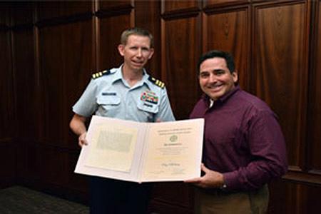 USCG recognises ABS employee